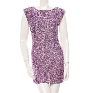Alice and Olivia Pink Sequin Keyhole Dress